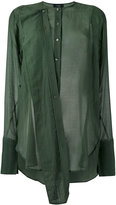 Joseph military shirt - women - Cotton/Silk - 36