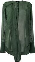 Joseph military shirt - women - Silk/Cotton - 38