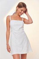 Kimchi & Blue Kimchi Blue Square-Neck A-Line Eyelet Dress