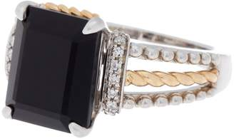 Effy 18K Gold & Sterling Silver Onyx Ring - Size 7