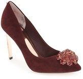 Ted Baker Women's 'Peetch' Crystal-Embellished Pointy Toe Pump