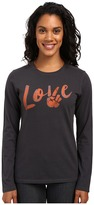 Life is Good Love & Peace Long Sleeve Crusher Tee