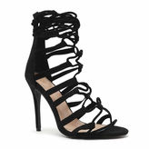 Qupid Ara-111 Lace-Up Pumps