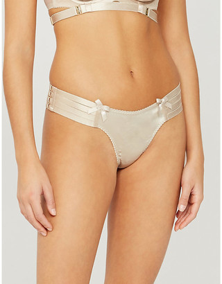 Bordelle Webbed stretch-silk thong