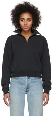 RE/DONE Black 70s Half-Zip Sweatshirt