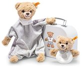 Steiff Sleep Well Bear Comforter And Grip Toy Gift Set (Grey) by
