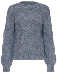 Ichi Knitted Sweater with Cable Knit Detail - M