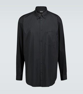 Balenciaga Pinstriped long-sleeved shirt