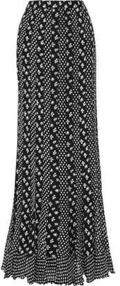 Diane von Furstenberg Addyson Paneled Floral-print Silk-chiffon Maxi Skirt