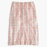 J.Crew Collection patterned sequin skirt