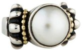 Lagos Two-Tone Mabé Pearl Caviar Ring
