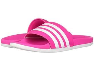 adidas Adilette CF+ Stripes (Shock Pink/White/Shock Pink) Women's Shoes