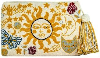 Mama Tierra Sol Y Luna Clutch M Yellow/White GOTS