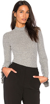 KENDALL + KYLIE Bell Sleeve Bodysuit in Gray. - size L (also in M,S,XS)