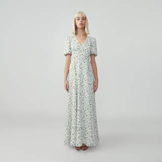 Fame & Partners Puff Sleeve Wrap Dress