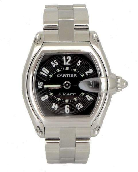 Cartier 2510 Roadster Stainless Steel Black Dial Automatic 37mm Mens Watch