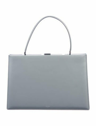 Celine 2018 Soft Medium Clasp Bag w/ Tags Grey