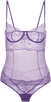 ROMANCE Underwired bodysuit in Leavers lace