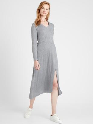 Banana Republic Petite Ribbed-Knit Midi Dress