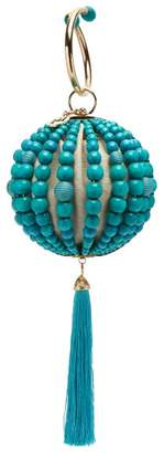 Rosantica By Michela Panero - Billie Beaded Tassell Clutch Bag - Womens - Blue Multi