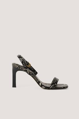 NA-KD Wooden Heel Ankle Strap Sandals
