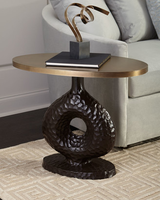 Arteriors Seth Textured Side Table