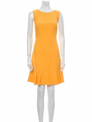 Prada Bateau Neckline Mini Dress Yellow