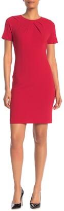Nanette Lepore Pleated Neck Sheath Dress