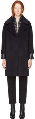 Herno Black Oversized Layered Coat