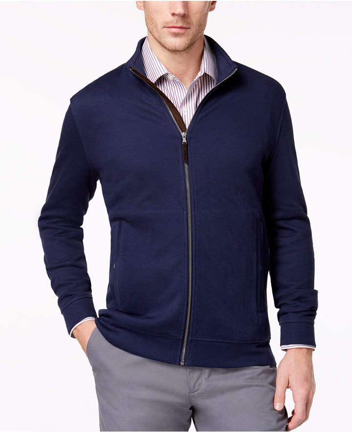 Tasso Elba Men's Supima® Cotton Full-Zip Knit Jacket, Created for Macy's