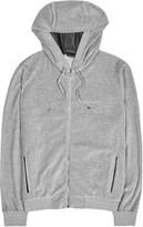 Versace Grey Medusa-appliquéd Velour Sweatshirt