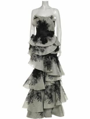 Marchesa 2019 Long Dress w/ Tags Grey