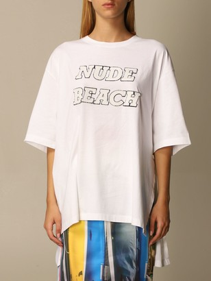 N°21 N 21 T-shirt Half Sleeve Over With Nude Beach Patch