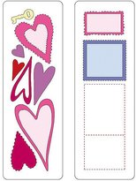 S.t.a.m.p.s. Provo Craft Cuttlebug 37-1115 2-by-6-Inch Dies, Set of 2, Hearts and
