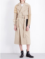 Undercover Multi-texture cotton-blend trench coat