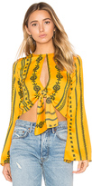 House Of Harlow x REVOLVE Jane Blouse in Yellow