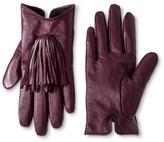 Merona Thinslate Women's Glove with Tassel Wine