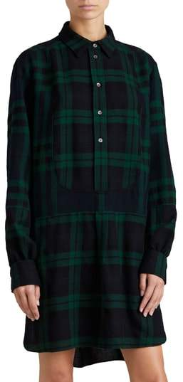 Burberry Kylie Check Wool Shirtdress