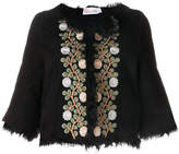 RED Valentino floral embroidered cropped jacket