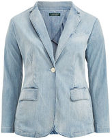 Ralph Lauren Woman Single-Button Denim Blazer