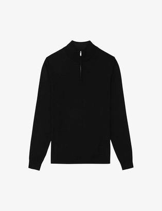 Reiss Chester zip-neck wool jumper