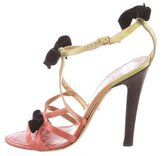Christian Lacroix Multicolor Bow-Embellished Sandals