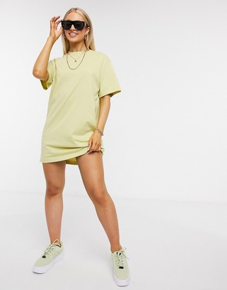 Nike mini swoosh oversized t-shirt dress in olive