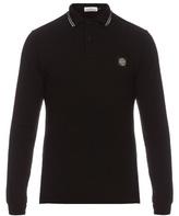 Stone Island Long-sleeved Stretch-cotton Polo Shirt