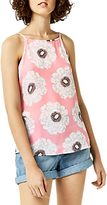 Warehouse Melody Floral Cami Top, Pink Pattern