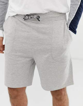 ONLY & SONS logo drawstring oversize fit jersey shorts in light gray melange