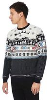 F&F Ho Ho Ho Christmas Scene Light-Up Jumper, Men's