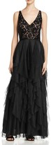 Aidan Mattox Sleeveless Double V Gown
