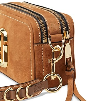 Marc Jacobs The SoftShot 21 Small Suede Leather Crossbody