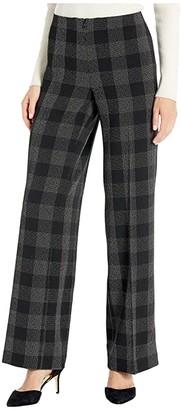 Elliott Lauren Square One Invsible Zipper Wide Leg Pants (Black/Grey) Women's Casual Pants